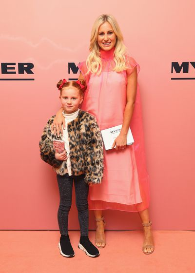 Roxy Jacenko, in Prada, and daughter Pixie Curtis at the Myer spring/summer '18 show