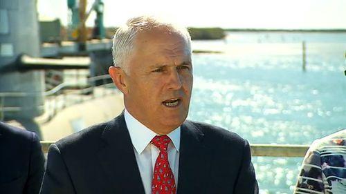 Prime Minister Malcolm Turnbull in Adelaide. (9NEWS)