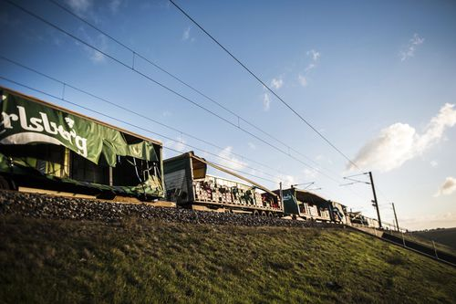 There were delays in reaching the damaged passenger train when a storm tore through the region earlier.