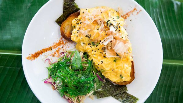 Miso scrambled eggs from Caffiend Cafe