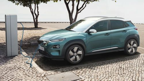 The Hyundai Kona is the latest electric car in the range and can hit 100km/h in 7.4 seconds.