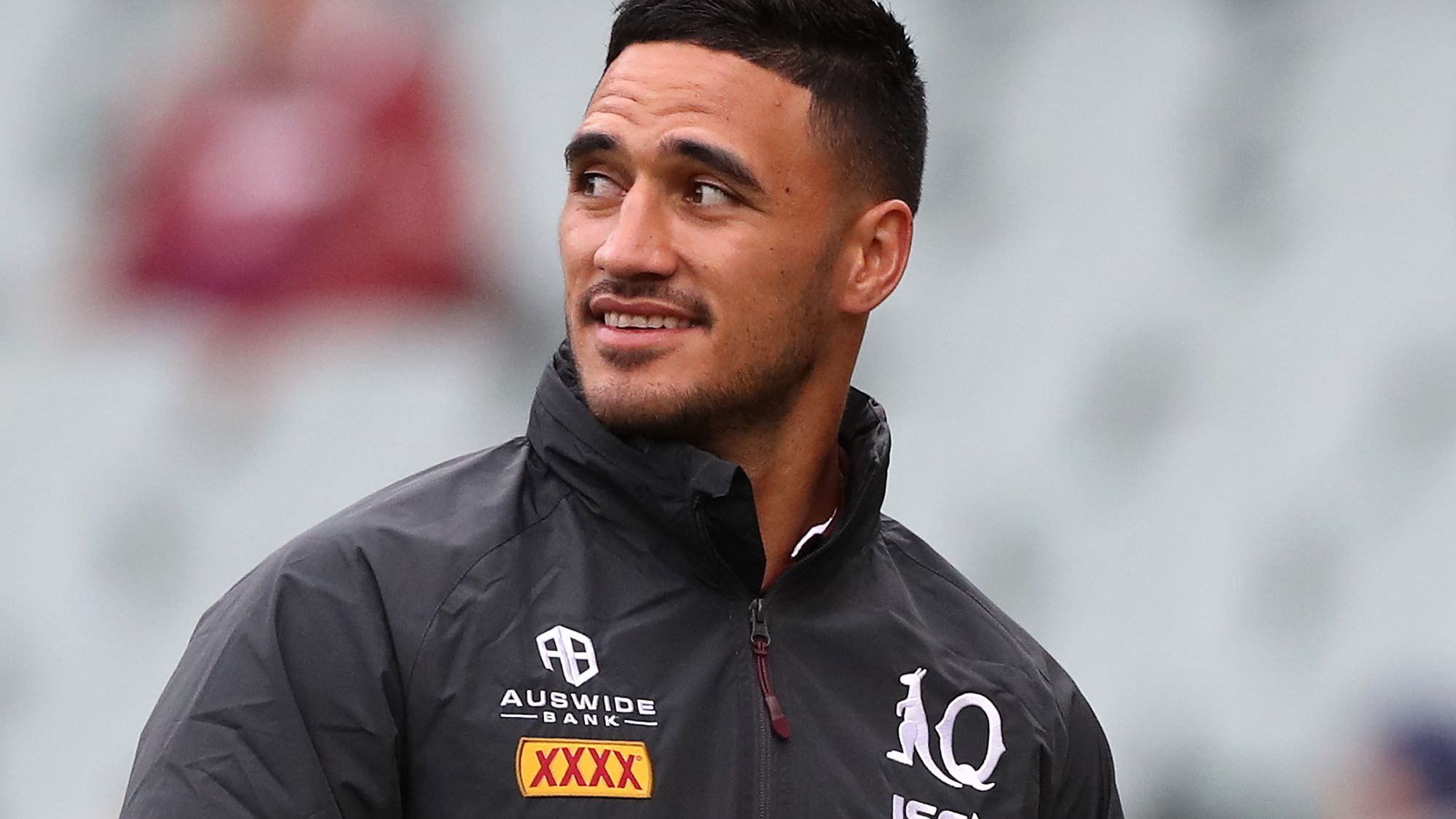 Valentine Holmes of the Maroons before game one.