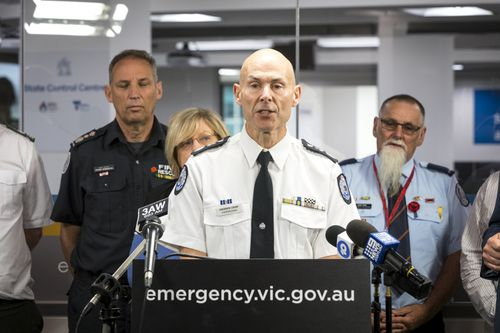 Victoria's Emergency Management Commissioner Andrew Crisp.