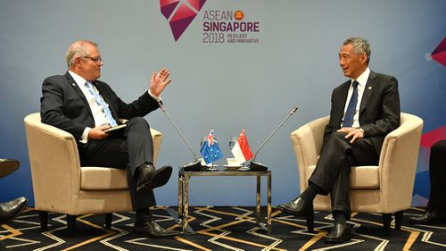 Mr Morrison will stay in Singapore today before flying back to Darwin to meet with Japanese Prime Minister Shinzo Abe.