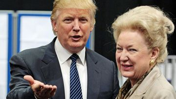 President Donald Trump with his older sister Maryanne Trump Barry.