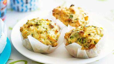 """Recipe:&nbsp;<a href=""""http://kitchen.nine.com.au/2016/05/16/16/57/zucchini-and-corn-muffins"""" target=""""_top"""">Zucchini and corn muffins</a>"""