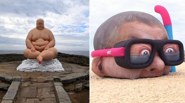 'Sculptures by the Sea' opens despite a soggy start