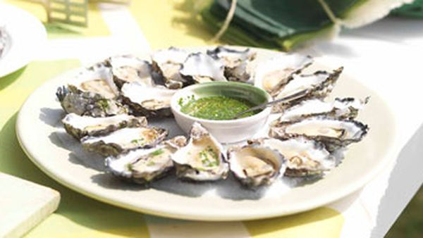 Oysters with Champagne vinegar
