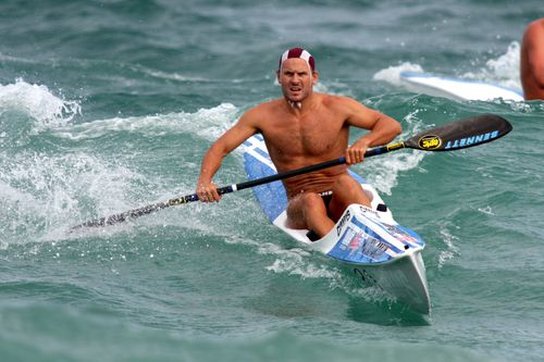 Dean Mercer in action at the 2009 Where is SLSA Championships at Scarborough Beach. (AAP)