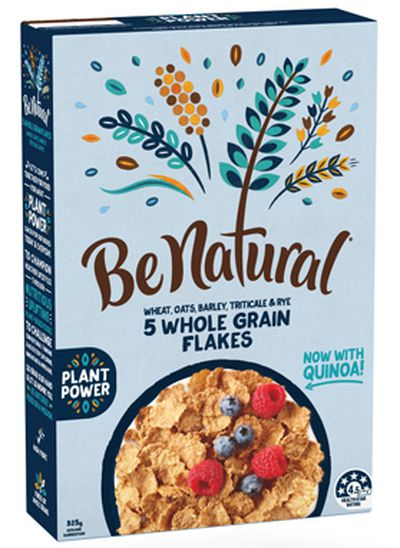 <strong>Be Natural Whole Grain Flakes (11.5 grams of fibre per 100 grams)</strong>