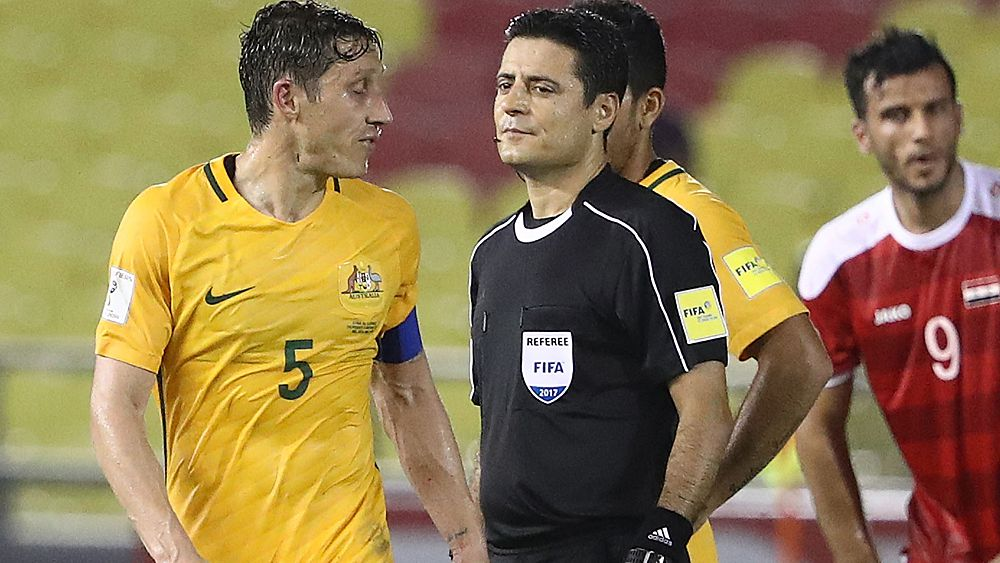 World Cup 2018: Socceroos blast Iranian ref for awarding dubious penalty for Syria