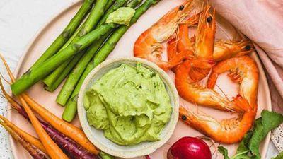 """Recipe:&nbsp;<a href=""""http://kitchen.nine.com.au/2016/10/23/21/56/anthia-koullouros-velvety-avocado-dip"""" target=""""_top"""" draggable=""""false"""">Anthia Koullouros' velvety avocado dip</a>"""