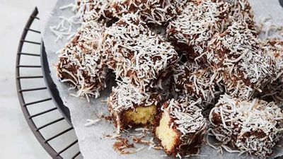 "Recipe:&nbsp;<a href=""http://kitchen.nine.com.au/2017/07/19/15/03/anna-polyvious-hot-chocolate-soaked-lamingtons"" target=""_top"">Anna Polyviou's hot chocolate soaked lamingtons</a>"