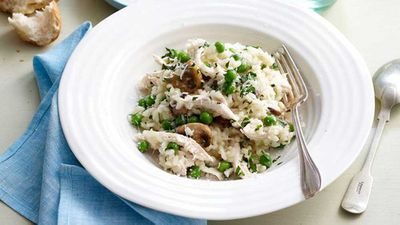 "Recipe: <a href=""http://kitchen.nine.com.au/2016/05/16/14/35/spring-risotto"" target=""_top"">Spring risotto</a>"