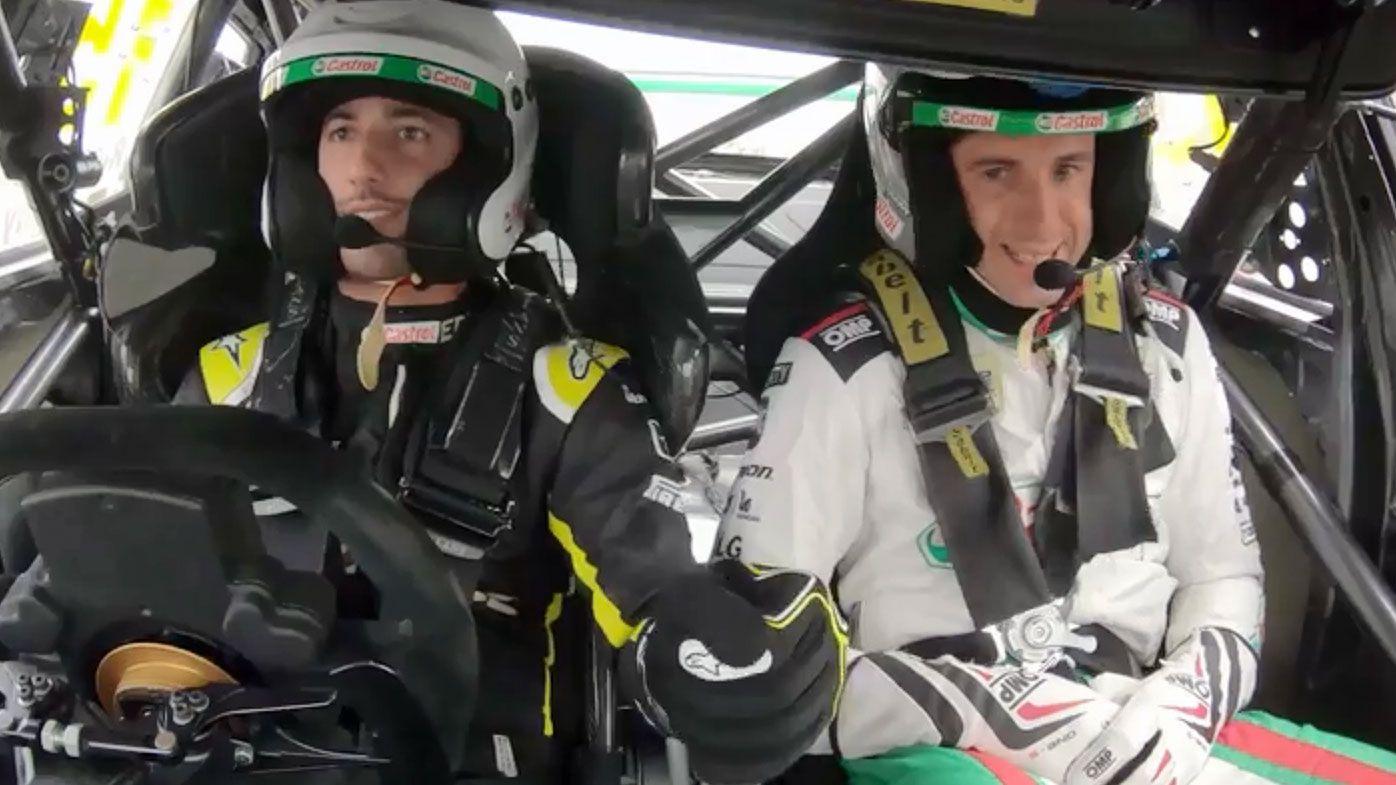 Ricciardo jumps behind the wheel of a V8 supercar
