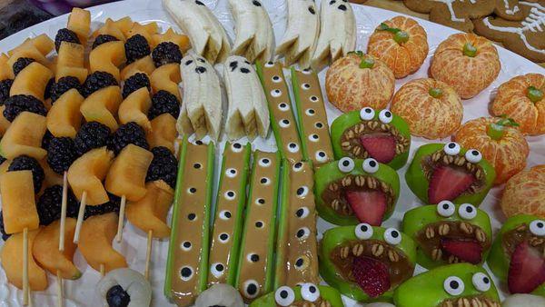 Halloween healthy fruit snacks