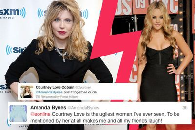 Most people would be a bit scared of singer Courtney Love ...not Amanda.