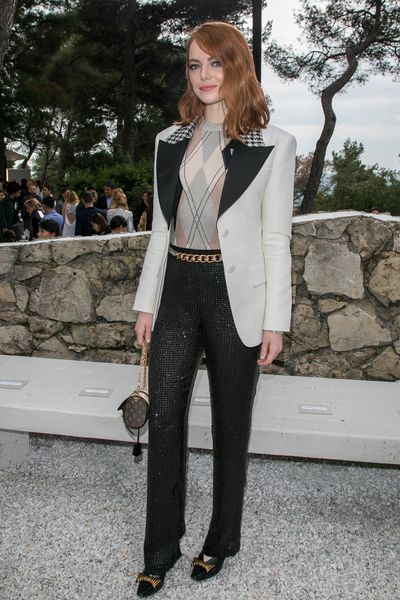 Emma Stone at Louis Vuitton Cruise '19