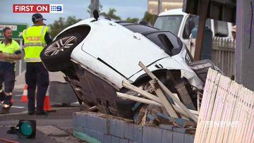 VIDEO: Alleged car thief crashes vehicle in Ipswich