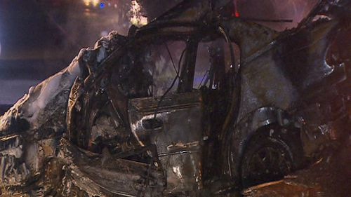 Adelaide driver rescued from fiery crash