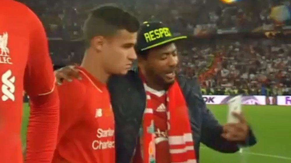 Liverpool fan grabs selfie at worst possible moment