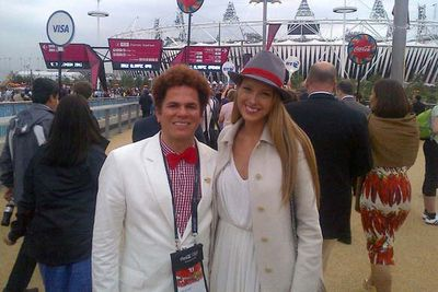 Czech model Petra Nemcova on her way into Olympic Stadium