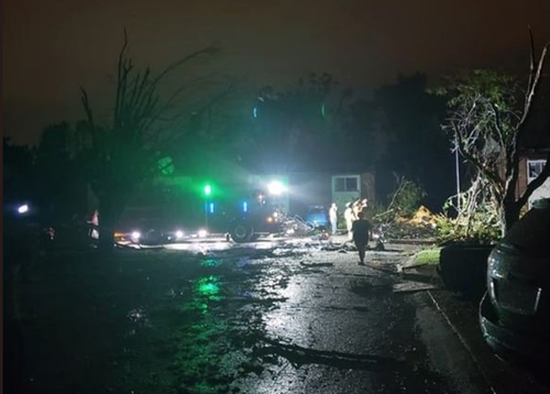 More than 18,000 properties are without power and many have been flattened after a tornado swept through Missouri's capital.