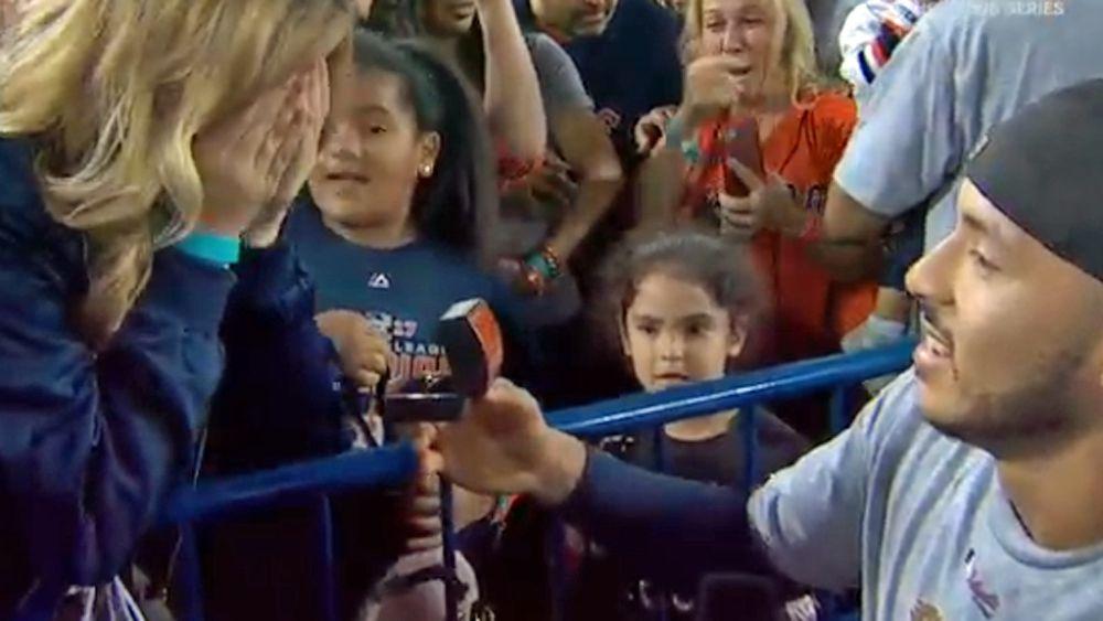 World Series: Houston Astros star Carlos Correa proposes to girlfriend