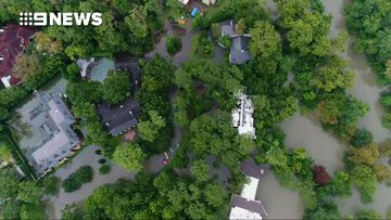 9RAW: Drone footage shows the extent of flooding in Houston