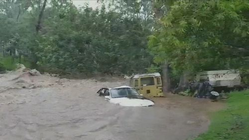 Up to 350mm of rain has fallen in the past 36 hours. (9NEWS)