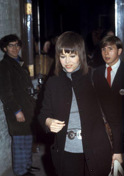 Jane Fonda at The Dick Cavett Show in 1970 in New York.