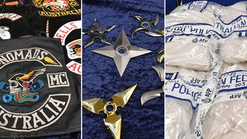 $650m in drugs and throwing stars: Gang squad's bikie spoils
