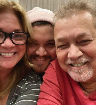 Eddie Van Halen, son Wolfgang Van Halen, Valerie Bertinelli, family photo