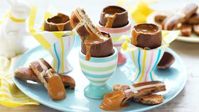 Caramel Easter egg soldiers