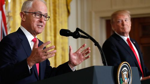 Malcolm Turnbull and Donald Trump. (AAP)
