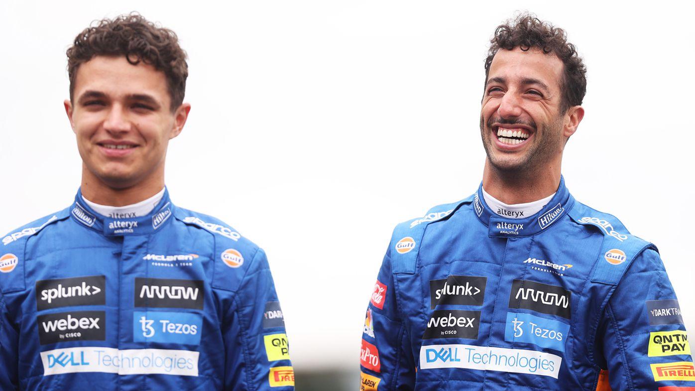 Lando Norris and Daniel Ricciardo at the British Grand Prix