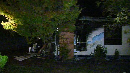 Police say he was suffering severe burns to his lower body and smoke inhalation.