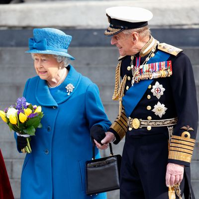"Prince Philip and Queen Elizabeth<span style=""white-space:pre;"">	</span>"