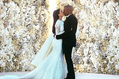 Kim and Kanye finally tied the knot in May in an intimate ceremony with family and close friends in Florence, Italy. <br/><br/>True to form, the fashionista pair looked divine in their wedding pics. <br/><br/>Noticeably absent were Kanye's bestie Jay Z and his wife Beyonce. * cough *