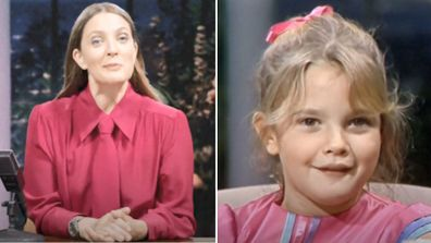 Drew Barrymore, talk show, trailer, promo, interview, younger self