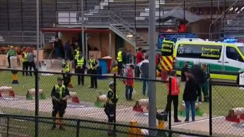 Woodchopper has medical emergency during competition at Adelaide Show.