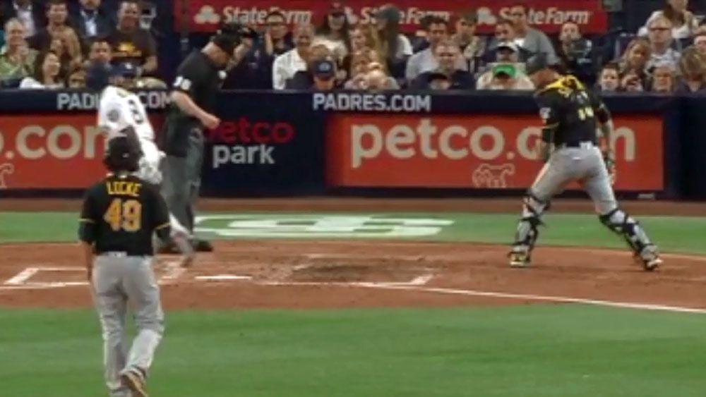 Wayward pitch turns into greatest trick shot