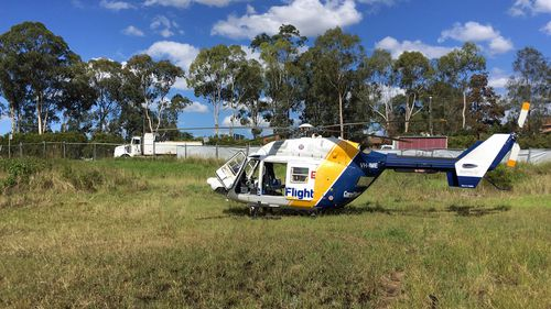 A CareFlight rapid response team was dispatched to the scene in Wetherill Park, and landed in a vacant block 150 metres away from the scene.