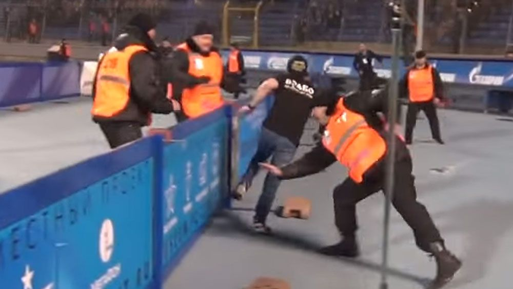 Pitch invader makes fools of security guards