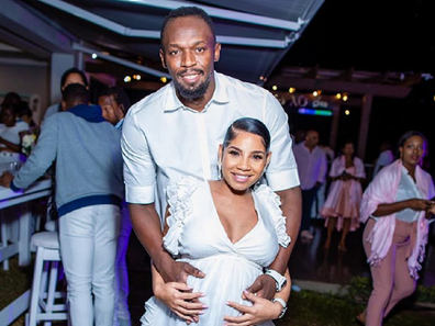Usain Bolt and partner announced the pregnancy on Instagram.