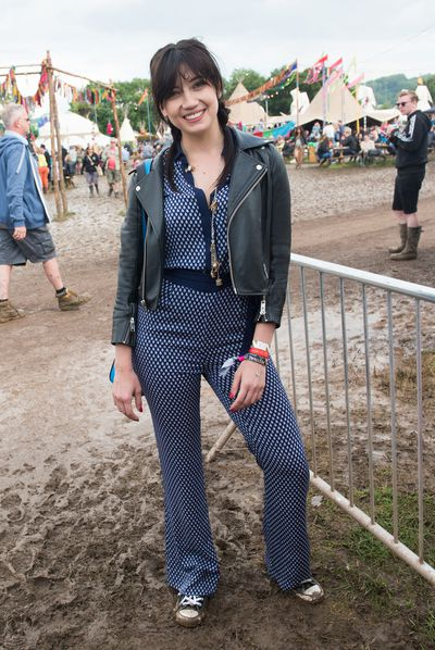 Later in the festival, Daisy Lowe went for low-key pigtails.