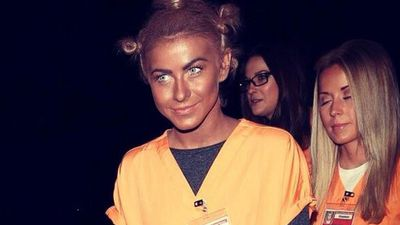 <b>Blackface:</b> Julianne Hough was forced to apologise after dressing up as a character played by Uzo Abuda on the show Orange Is The New Black. She covered her face in dark make-up. The term comes from white theatre performers from the mid-1800s.