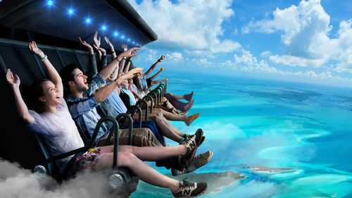 What the views will look like while riding on the proposed attraction. (Dreamworld Australia)