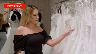 Exclusive: Rebecca's hilarious day out wedding dress shopping