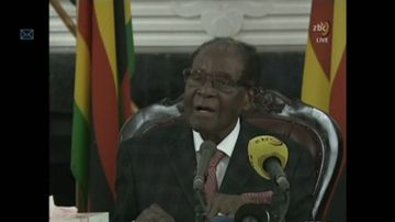 9RAW: Mugabe refuses to resign after 20-minute speech